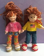 Vintage TY Beanie Baby American Millie Girl BOPPERS July 4 Doll Toy and Friend