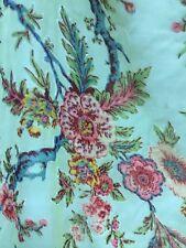 """Light Blue Rose Flower Vine Pattern Silk Velvet Blend 54"""" Fabric By The Yard"""