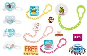 Baby Dummy Clip Soother Clips Chain Holder Pacifier Strap Mix of designs