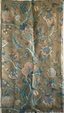 Wonderful Mid 20th C. French Linen Jacobean Exotic Floral Fabric (2924)