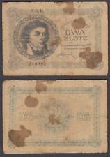 Poland 2 Zlote 1919 (1924) RARE Banknote (VG) Condition P-52