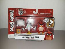 Angry Birds Mission Flock Pack Red & Silver Figure 2-Pack Surprise Hatchling New