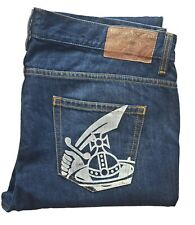 """Men's VIVIENNE WESTWOOD Anglomania TAPERED Dark Blue Jeans *FITS* W36-38"""" L28"""""""