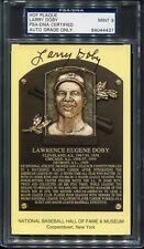 LARRY DOBY SIGNED HOF PLAQUE PSA/DNA MINT 9 CERTIFIED AUTOGRAPH
