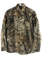 RedHead Camo Hunting Button Up Shirt Mens Small RealTree Long Sleeve Cotton Euc