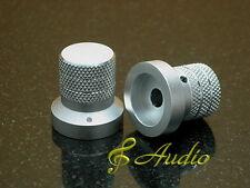 2 pcs 26mmDx27mmL Silver Color Solid Aluminum Knobs for Hi-End Audio Equipment