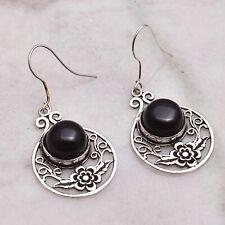 "Earrings Jewelry 1.52"" Ae 50903 Black Onyx Handmade Drop Dangle"