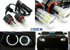 Pair H8 w/CREE chip LED Angel Eye Ring Marker Light 60W for BMW 1 3 5 X Z Series
