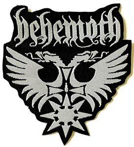 BEHEMOTH - Logo - Die Cut Woven Patch Sew/ Iron On Black Death Metal
