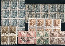 España. Bloques de sellos Estado Españaol (Franco y Cid)