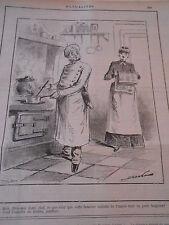 Caricature 1886 Le Chef de cuisine assiette de l'impot c'est assiette au beurre