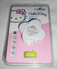 Hello Kitty 4 puertos hub USB 2.0 bluestork PC Mac OS, Windows compatible nuevo blanco