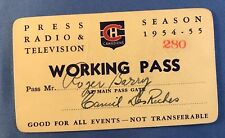 1954-55 Montreal Canadiens Pass/Ticket Jacques Planet Debut