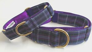 Boomerjacks Purple Tartan Martingale Collar/Greyhound/Whippet//Many Breeds