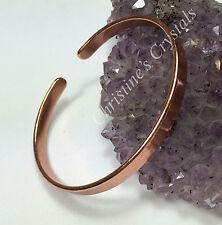 Solid Copper Non Magnetic PLAIN NARROW Bracelet Healing Arthritis Pain Relief B