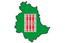 "Auto Aufkleber Italien Region "" UMBRIEN "" Sticker 11x9 cm konturg."
