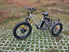 ELECTRIC TRIKE 7 SPEED FAT TIRE- BIKE, TRICYCLE WHITE ONLY