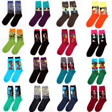 Funny Art Painting Socks Novelty Artist Series Starry Night Men/Women Famous LDK