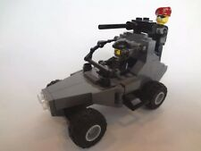 CUSTOM LEGO MILITARY GREY DUNE BUGGY SET WITH 2 MINIFIGURES