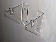 CLEAR ACRYLIC PERSPEX SWORD  WALL MOUNT DISPLAY