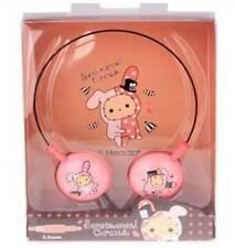 Kawaii SAN X Sentimental Circus Shappo Rabbit Wire Head Phones! Rare!