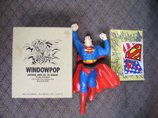 SUPERMAN FIGURE 2 part suction WINDOWPOP jumps through the window New in box1989