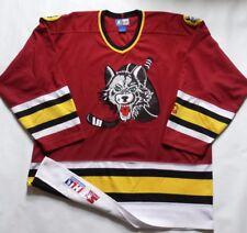 Vintage Rare 1994 Chicago Wolves IHL Starter Jersey Size XL
