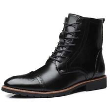 Mens Formal Leather Oxford Shoes Casual Flats British style Dress Wing Tip Boots