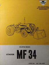 Massey Ferguson Tractor Mf 34 Front End Bucket Loader Parts Catalog Manual