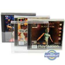 PS1 Game Box Protector x 10 STRONG 0.4mm Plastic Display Case for Playstation