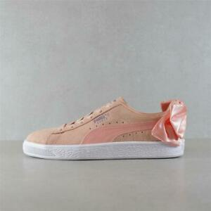 Womens Puma Suede Bow Pink Trainers (PFP2) RRP £79.99
