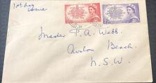 Australian Fdc 1953 Coronation Her Majesty Queen Elizabeth 2nd