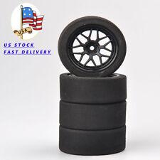 4PCS Unique Foam Tires Wheel Rims Set of For  RC 1:10 Model On-Road Racing Car