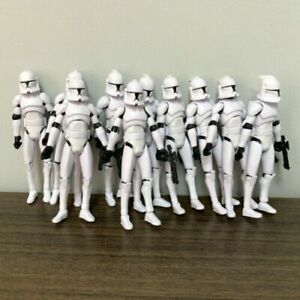 """Lot 10Pcs Star Wars No.5 Clone Trooper 3.75"""" Action Figure Clone Wars Toys Gift"""