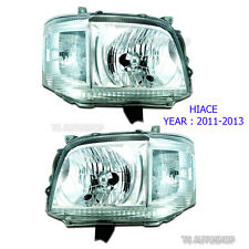 SET Front Head Lamp Light Replacement For Toyota Hiace Commuter Van 2011-2014