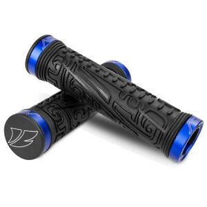 BV Bike Grips Handlebar Rubber TPR Ergonomic Double Lock-on MTB BMX Grip Bar End