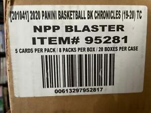 2019 Panini Chronicles Basketball Factory Sealed Blaster 20 Box Case