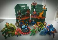 Vintage He-Man Castle Grayskull Action Figure Vehicle Set MOTU Mattel 80's Rare