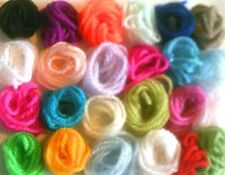 Assorted small metre lengths of wool - ideal for completing craft projects
