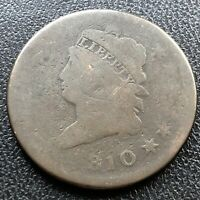1810 Large Cent Classic Head One Cent 1c Rare Circulated #17704