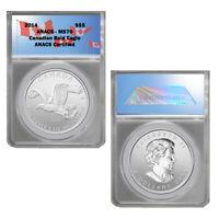 2014 Canada -Birds of Prey series - Bald Eagle $5 Silver Coin MS70