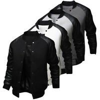 Fashion Men Varsity Letterman College Jacket Baseball Jacket Coats XS-L