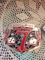 2 Belt Buckles: Levi Strauss & Co. & Lucky Seven Dice (Gambling) Buckles Pewter