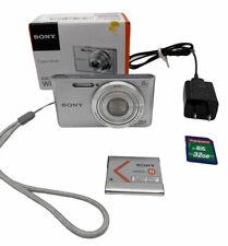 SONY Digital Camera Cybershot W380 Silver DSC-W380 Includes Charger 32M card