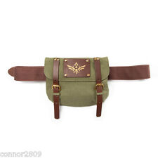 Official Nintendo Legend Of Zelda Brown Belt With Green Triforce Satchel Bag