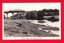 Postcard - BISHOP AUCKLAND Viaduct & River Wear - STEAM TRAIN CROSSING - RP