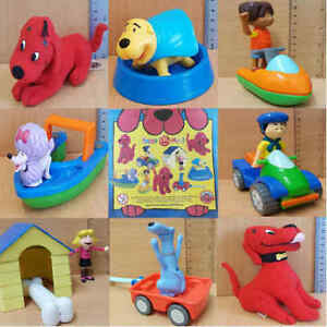 McDonalds Happy Meal Toy 2003 Clifford Big Red Dog Plastic Toys - Various