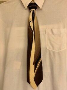 VITALIANO PANCALDI geometric pattern mens blk/yellow tie