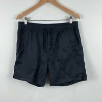 Industie Mens Shorts Size Large Black Elastic Waist Drawstring