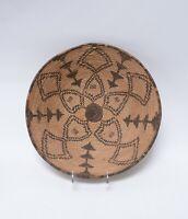 """Antique Basket: Western Apache Bowl - c. 1900  3 3/4"""" x 16 1/4"""""""
